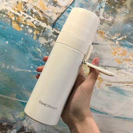 Simple insulated lid girls portable compact trend students cute water glass bottle  NHtn259562's discount tags