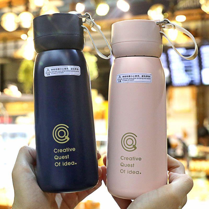 Fashion portable student simple couple mug trend men and womens thermos mug NHtn259572