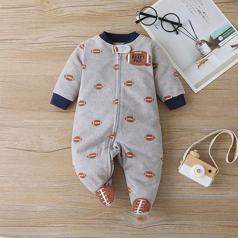 Ocio de una sola pieza de manga larga vendedor caliente del calzado del bebé del algodón de la moda NHLF259632's discount tags