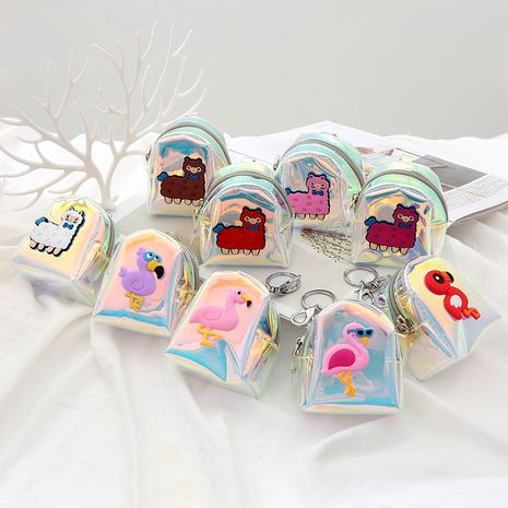 Hot selling creative cartoon alpaca wallet ladies pvc laser coin purse  wholesale NHAE259664's discount tags