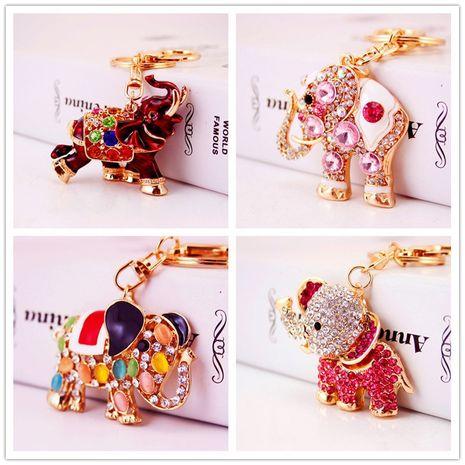 Porte-clés éléphant en cristal de diamant mignon créatif en gros NHAK259687's discount tags