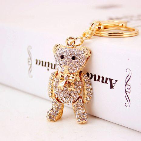 Porte-clés coréen créatif mignon diamant doré dessin animé ours NHAK259695's discount tags