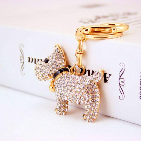 Porte-clés de chien du zodiaque chiot mignon diamant cloche créative NHAK259696's discount tags