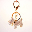 Creative cute diamond bell puppy  zodiac dog key chain NHAK259696