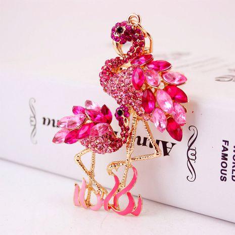 Porte-clés flamant rose avec des diamants NHAK259698's discount tags