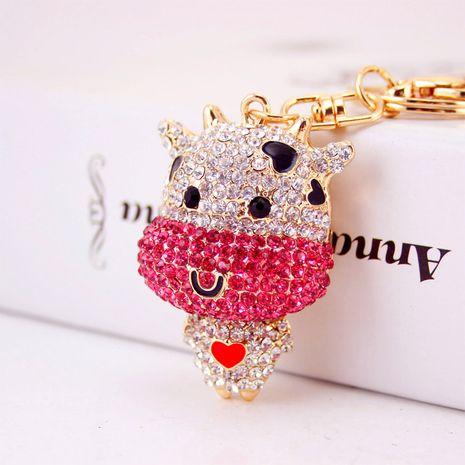 Porte-clés de veau de dessin animé mignon diamant créatif NHAK259706's discount tags