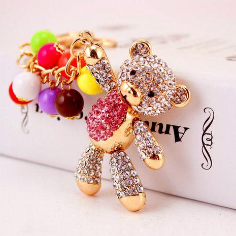 Porte-clés de voiture coréen créatif mignon diamant dessin animé ours NHAK259707's discount tags
