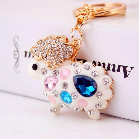 Coréen créatif mignon diamant cristal résine mouton zodiaque mouton voiture porte-clés NHAK259712's discount tags