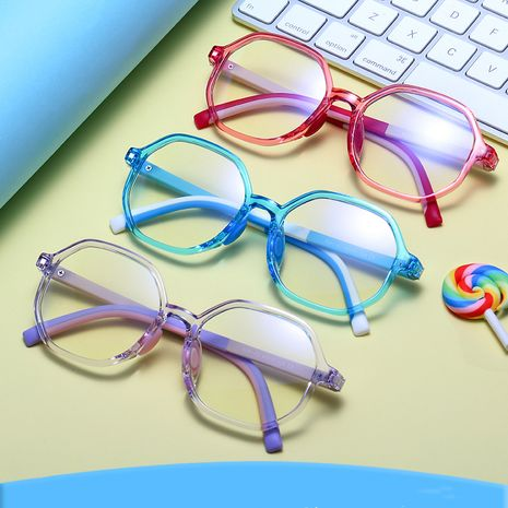 New Children's Anti-Blu-ray Glasses Classic Polygon Computer Glasses Online wholesale nihaojewelry NHFY233582's discount tags