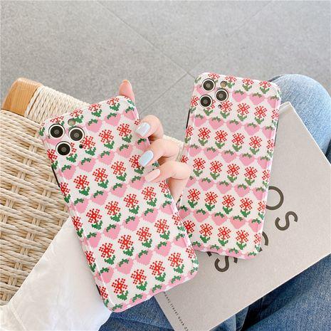 Étui de téléphone portable coréen fleur de fraise Apple 11Pro Max pour iPhone7 8plus SE2 housse de protection XR NHFI259726's discount tags