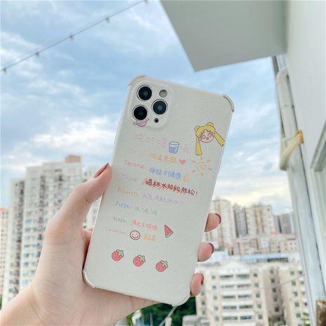 Texte de dessin animé Belle fille Apple 11Pro Max cas de téléphone portable pour 8plus coque souple anti-chute XR en relief SE2 NHFI259728's discount tags