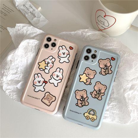 Coque de téléphone portable Cartoon Bear Bunny Apple 11Promax pour coque de protection iphone7se2 Huawei P40pro NHFI259736's discount tags