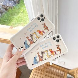 Cute cartoon Apple 11Promax mobile phone case for iphone7 XR se2 protective cover Huawei P40pro NHFI259740