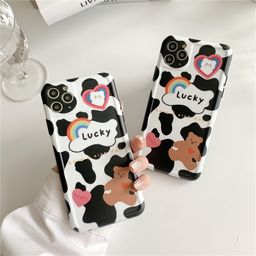 Cow pattern bear Apple 11Pro Max mobile phone case for iphone7 se2 protective cover Huawei P40pro NHFI259743
