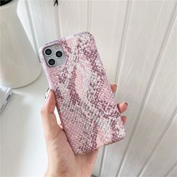 pink bronzing snake pattern for Apple 11Pro Max mobile phone case iPhone7 8plus XR se2 tide NHFI259744