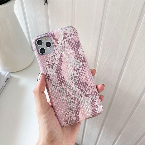 motif de serpent bronzant rose pour étui de téléphone portable Apple 11Pro Max iPhone7 8plus XR se2 marée NHFI259744's discount tags