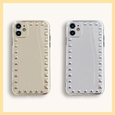 Galvanoplastie Golden Silver Apple 11Pro Max Creative Rivet Phone Case pour 8plus Protection SE2 XR NHFI259749's discount tags