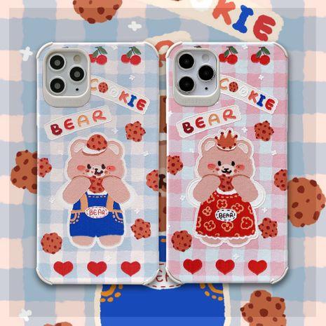 coque de téléphone portable iphone xsmax Apple 11 en relief autocollant en cuir dessin animé tpu housse de protection NHKI259755's discount tags
