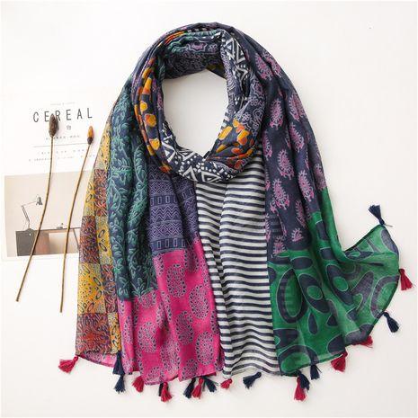 Écharpe en soie de coton de couleur de mode de vente chaude NHGD259774's discount tags
