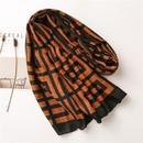 Hot selling fashion caramel grid white scarf wild long sunscreen scraf NHGD259786