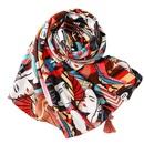Chinese style beauty figure desert tourism big shawl suncreen scarf NHGD259787