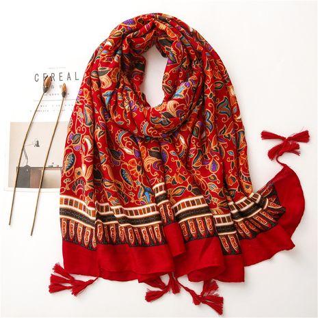 Vente en gros de foulard en soie de coton et lin à la mode NHGD259798's discount tags