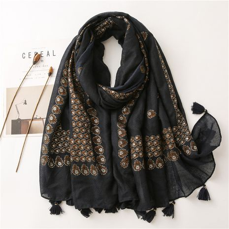 Écharpe en soie de protection solaire d'impression de gland de fleur de bronzage de vente chaude NHGD259800's discount tags