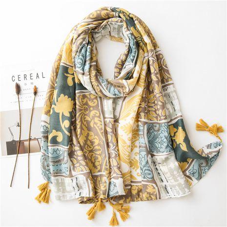 Foulard en soie élégant femme printemps et été crème solaire long châle sauvage NHGD259803's discount tags