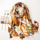 Hot selling fashion colored leaves cotton and linen scarf sunscreen shawl NHGD259806