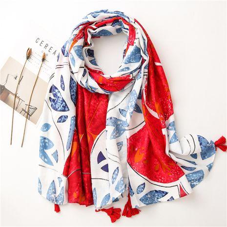 Mantón vendedor caliente de la bufanda del algodón y del lino que reduce la edad de la moda NHGD259810's discount tags