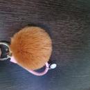 Hot selling hair ball  twist rope girl keychain  NHDI259817