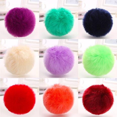 Hot selling rabbit fox fur ball luggage keychain NHAP259823's discount tags