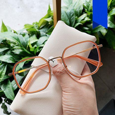 Marco de gafas cuadradas anti-azul claro nuevo marco de gafas retro de señora salvaje transparente espejo plano de estudiante TR90 NHKD227126's discount tags