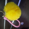 NHDI1134030-yellow-Twisted-rope-(8cm-wool-ball)