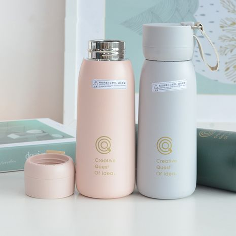 simple vacuum flask anti-fall car handle student sports small capacity cute handy cup  NHtn259573's discount tags