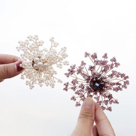 broche de venta caliente exquisito broche de flor de diamante perla redonda ramillete hecho a mano NHHS259854's discount tags