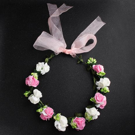 Hot-selling bridal headgear children beautiful simulation flower wreath wedding bridesmaid hair accessories wholesale NHHS259858's discount tags