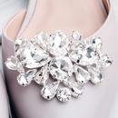Creative bridal jewelry luxury full diamond shoe buckle  NHHS259868