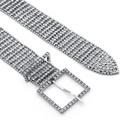 new fashion full diamond girdle eightrow square buckle waist chain belt NHHS259873