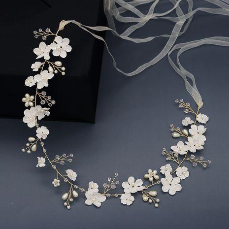 Tissu soie fleur forêt belle ceinture à la main perle simple ceinture de mariage NHHS259874's discount tags