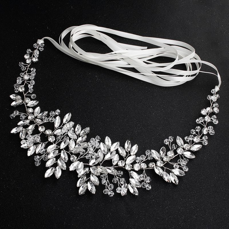 Fashion bridal belt horse eye rhinestone handmade beaded girdle wedding dress accessories NHHS259878