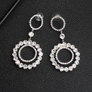 Fashion new simple alloy diamond exaggerated circle trend alloy earrings NHHS259907
