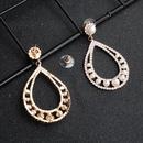 new fashion bohemian style pearl diamond big circle alloy earrings NHHS259914