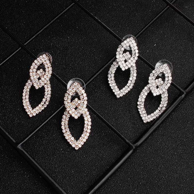 Fashion new simple trend rhinestone photo accessories alloy earrings jewelry NHHS259919