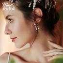 Korean summer fairy small handmade flowers pearl diamond earrings NHHS259925