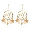 Fashion new shell circle dream catcher retro earrings for women NHRN259929