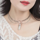 new fashion multilayer turquoise pendant women exaggerated clavicle chain NHRN259931