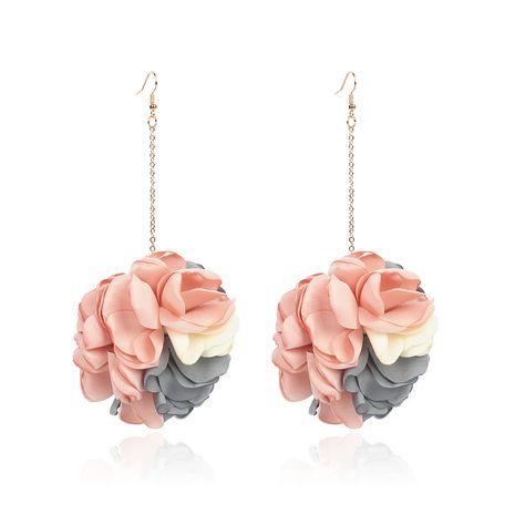 Forme a nuevos pendientes de bola de la flor de la tela de la flor de las señoras para las mujeres al por mayor caliente-saling NHRN259933's discount tags