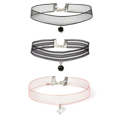 Lace Collar Women's Choker Collar Necklace Combination Set Hot-Selling  NHRN259942's discount tags