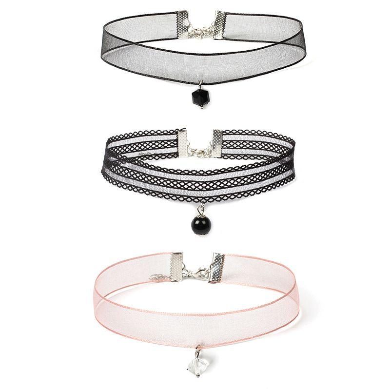 Lace Collar Womens Choker Collar Necklace Combination Set HotSelling  NHRN259942